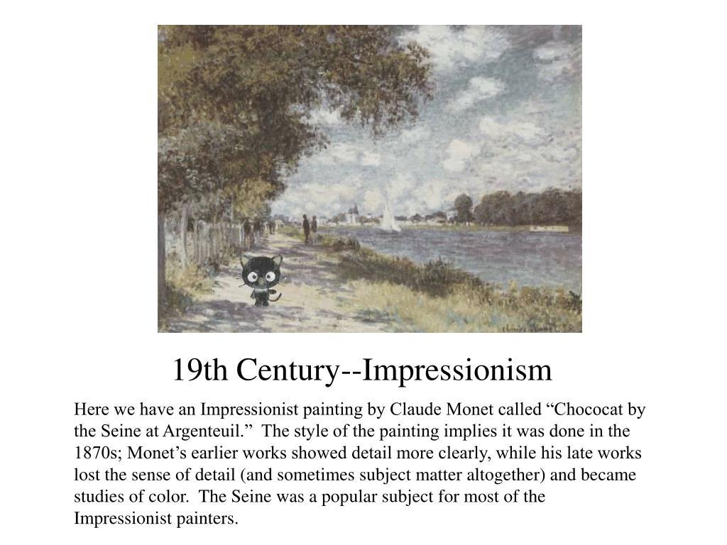 19th Century--Impressionism