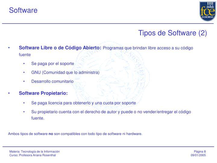 Tipos de Software (2)