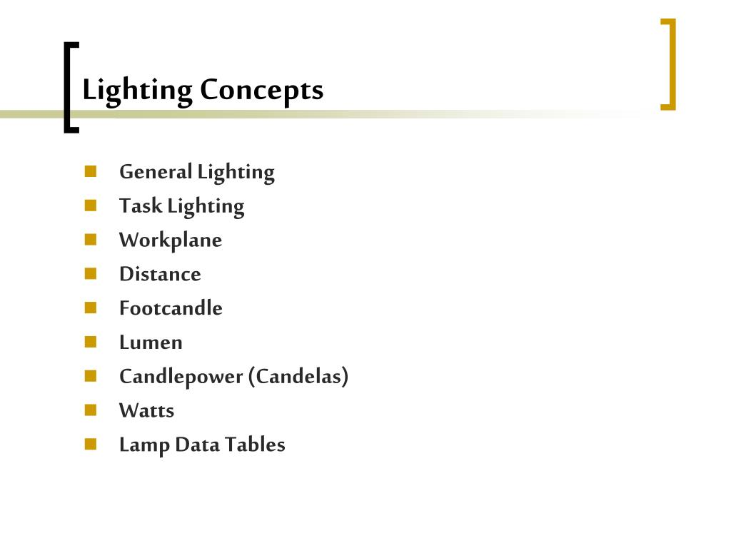 Lighting Concepts