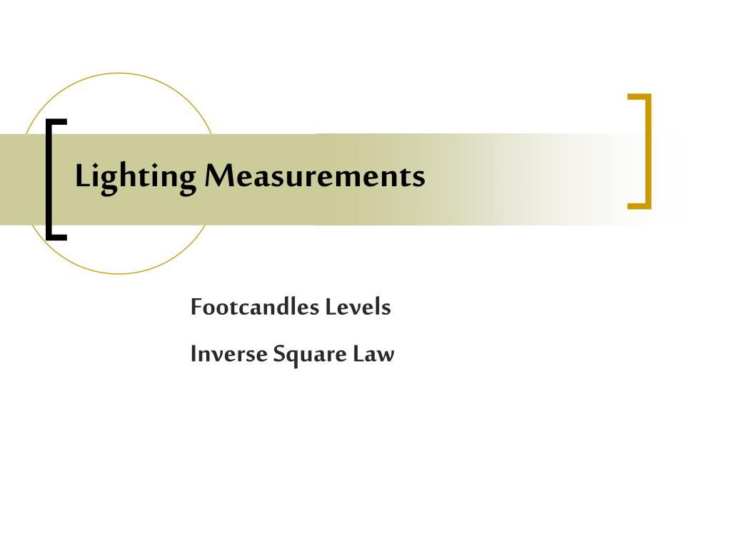 Lighting Measurements