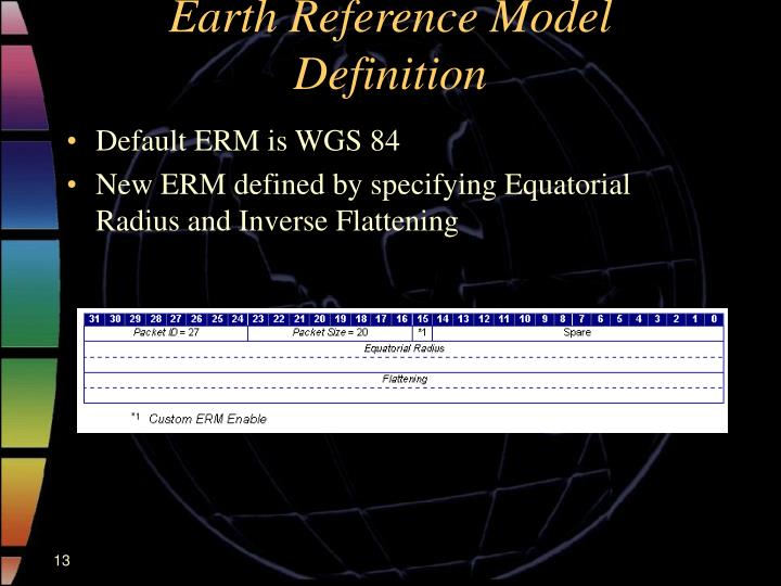 Earth Reference Model Definition