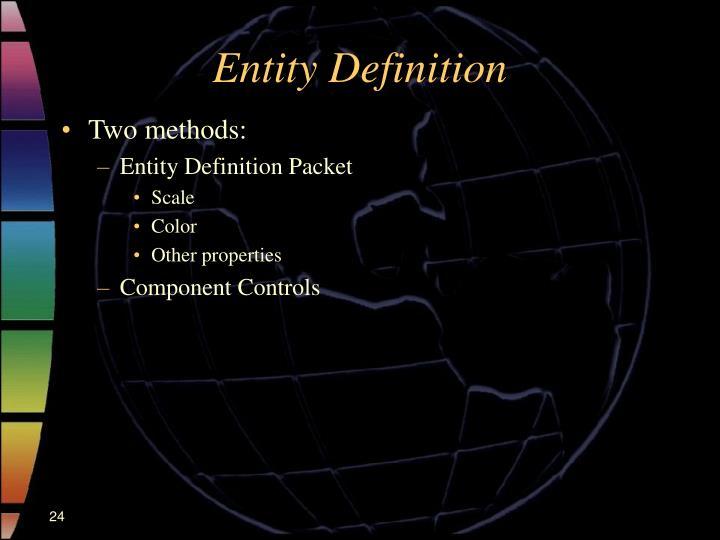 Entity Definition