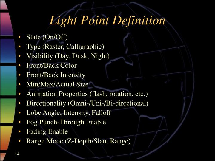 Light Point Definition