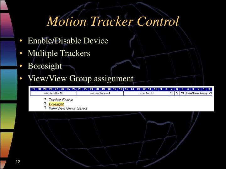 Motion Tracker Control