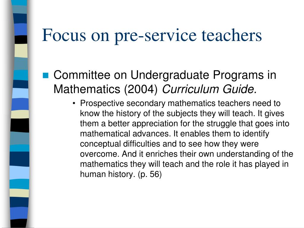 Focus on pre-service teachers
