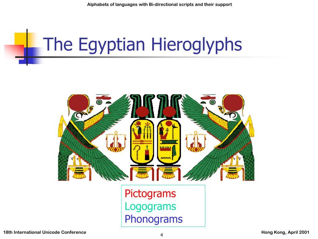 The Egyptian Hieroglyphs
