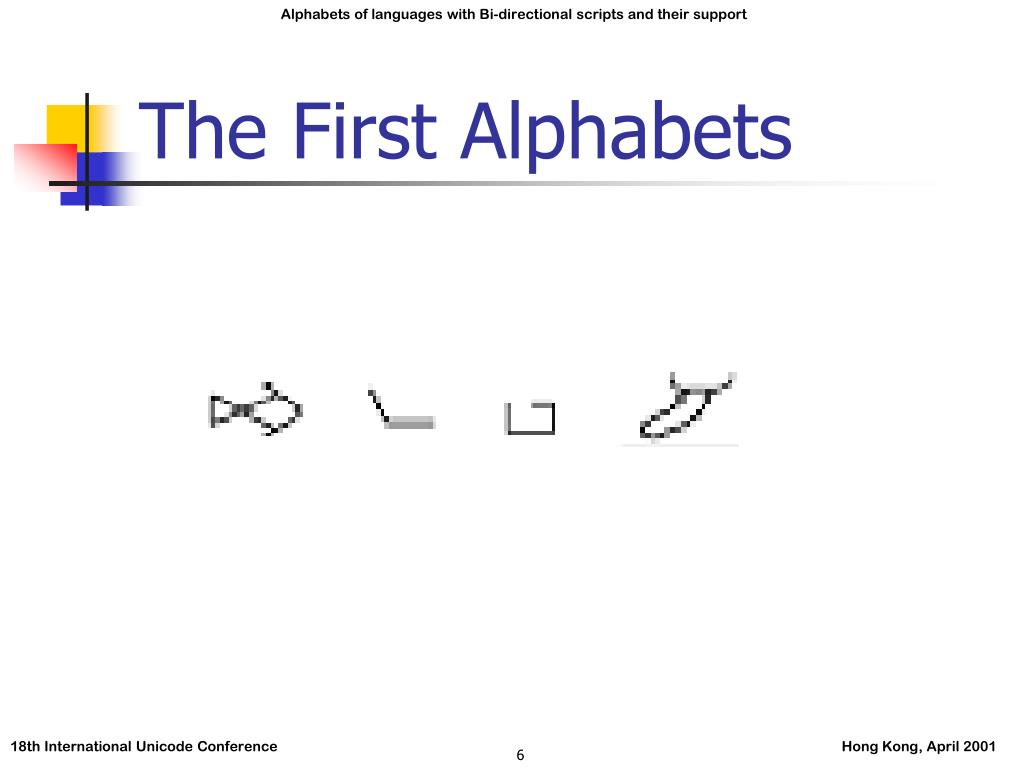 The First Alphabets