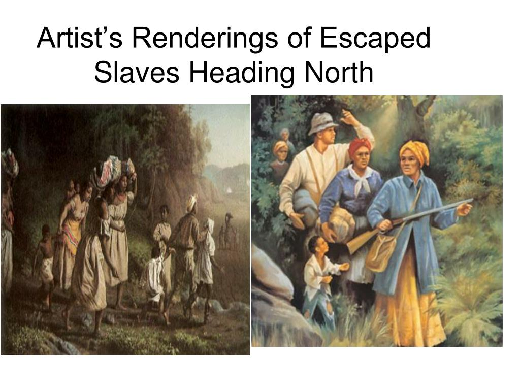 Artist's Renderings of Escaped Slaves Heading North
