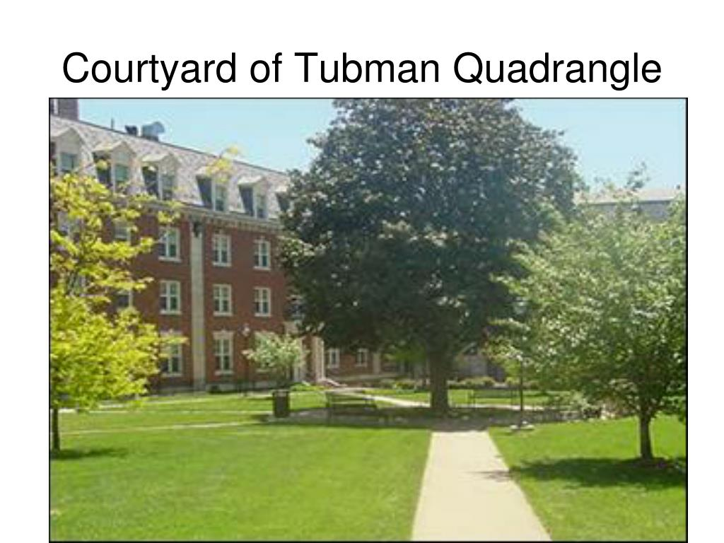 Courtyard of Tubman Quadrangle