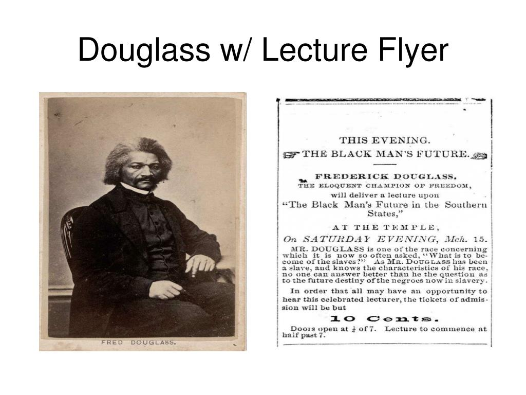 Douglass w/ Lecture Flyer