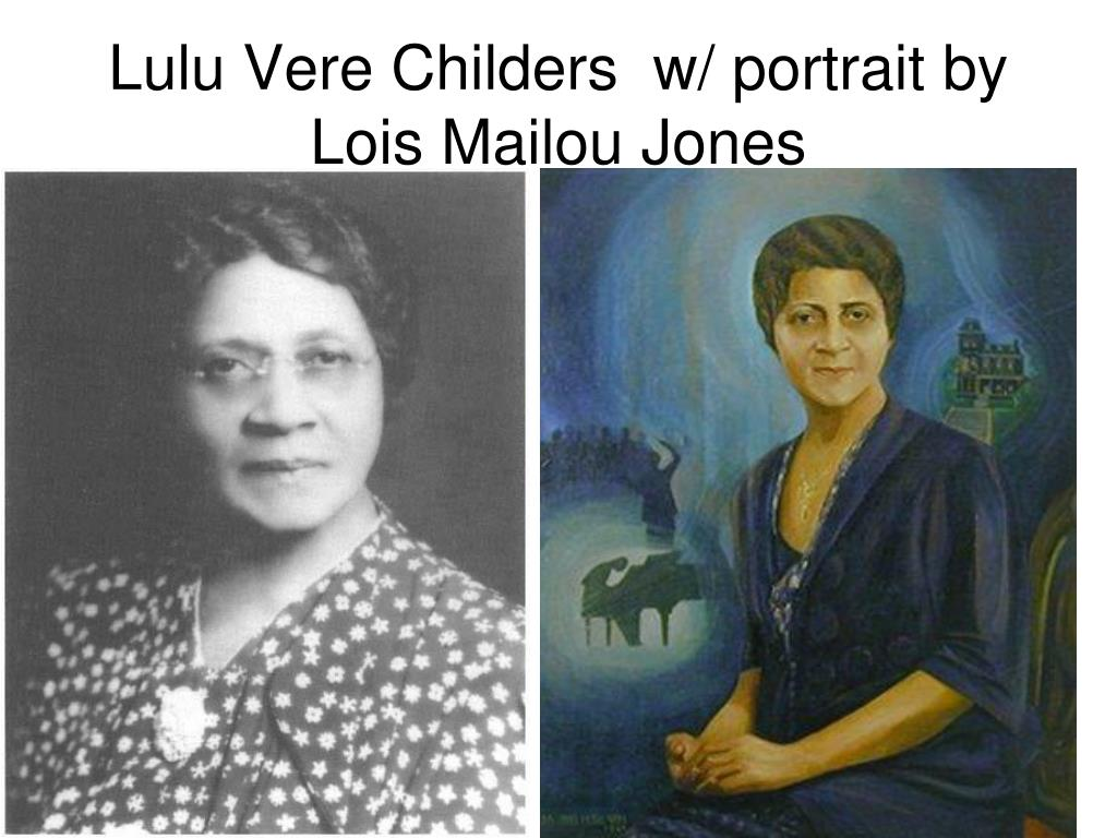 Lulu Vere Childers  w/ portrait by Lois Mailou Jones