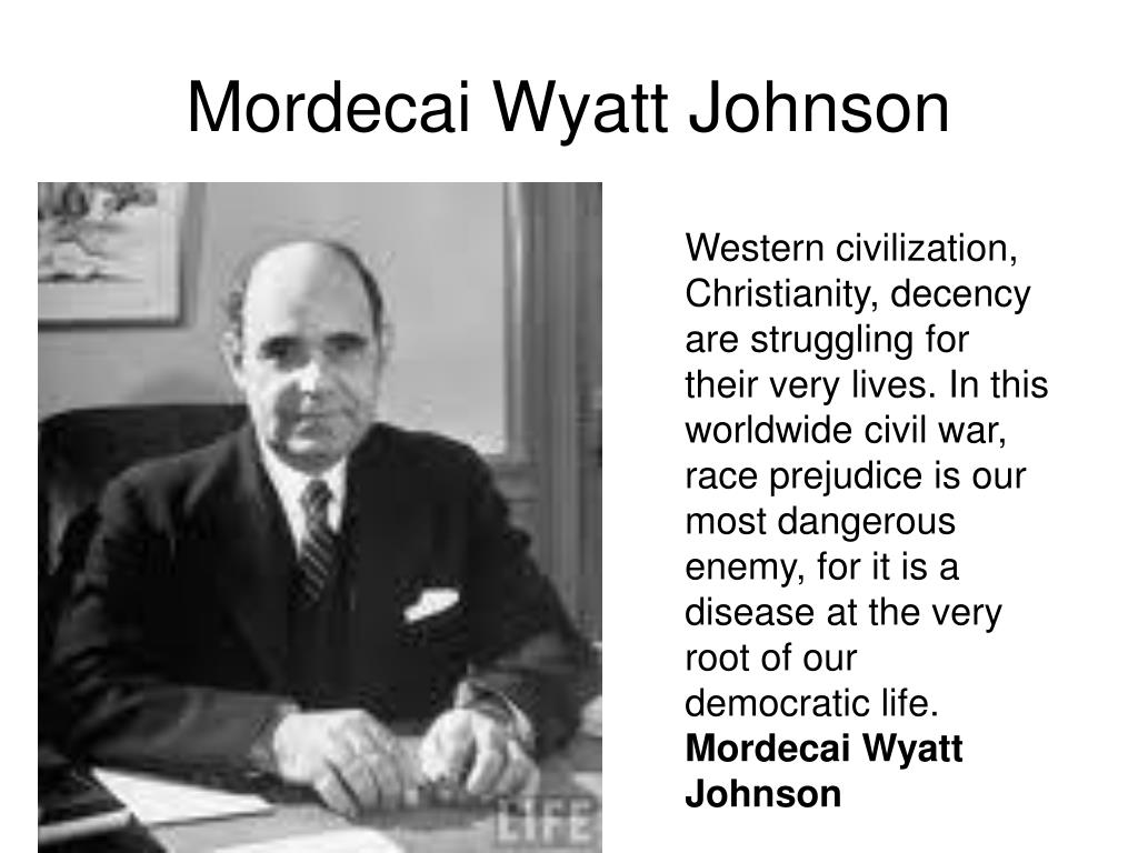 Mordecai Wyatt Johnson