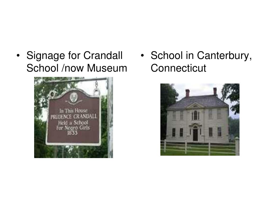 Signage for Crandall School /now Museum