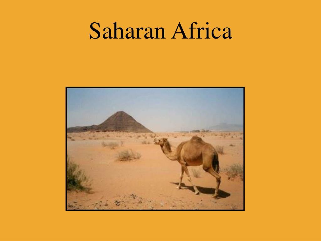 Saharan Africa