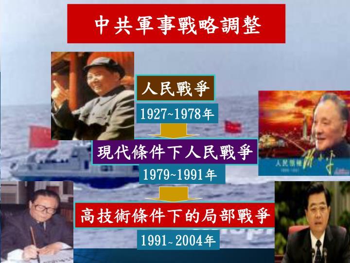 中共軍事戰略調整