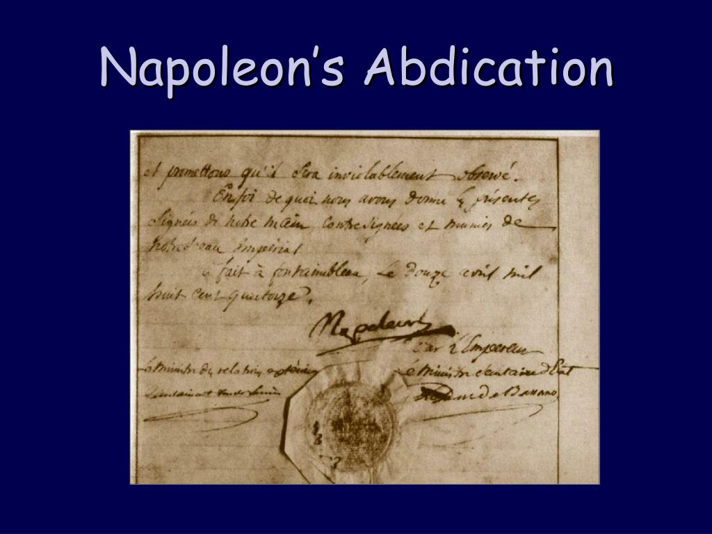 Napoleon's Abdication