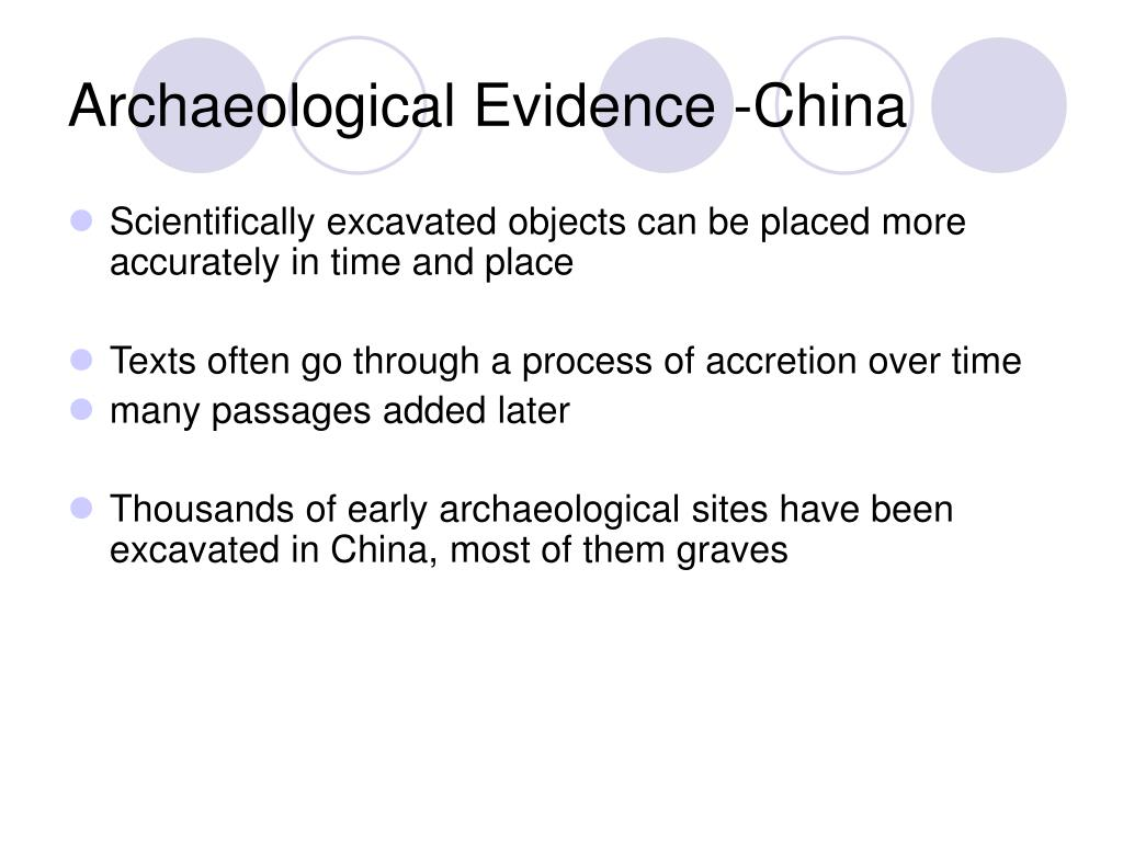 Archaeological Evidence -China
