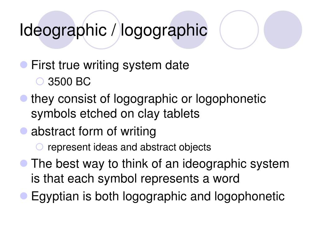 Ideographic / logographic