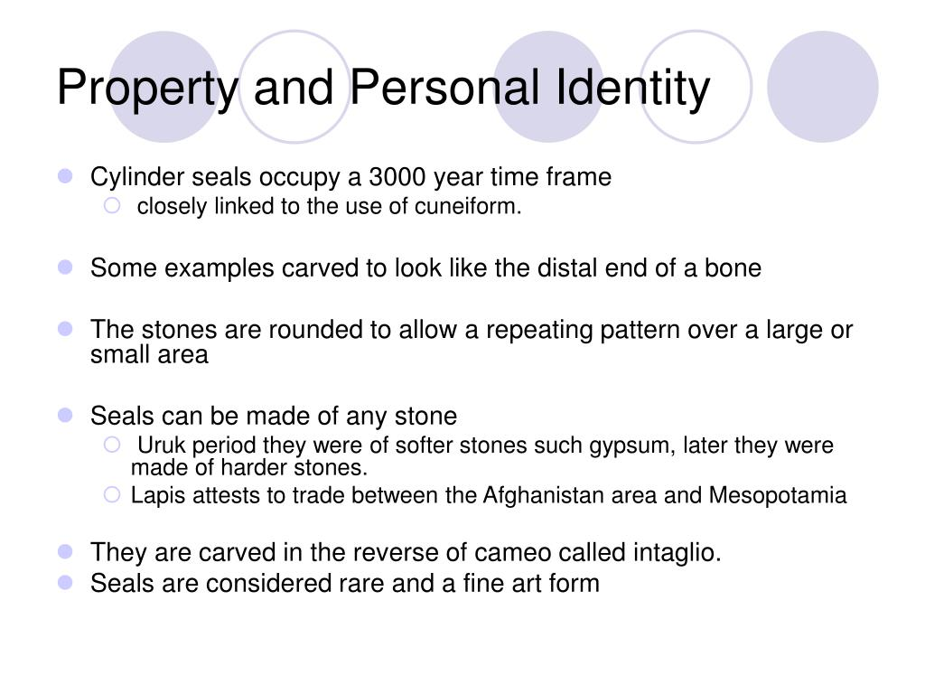 Property and Personal Identity