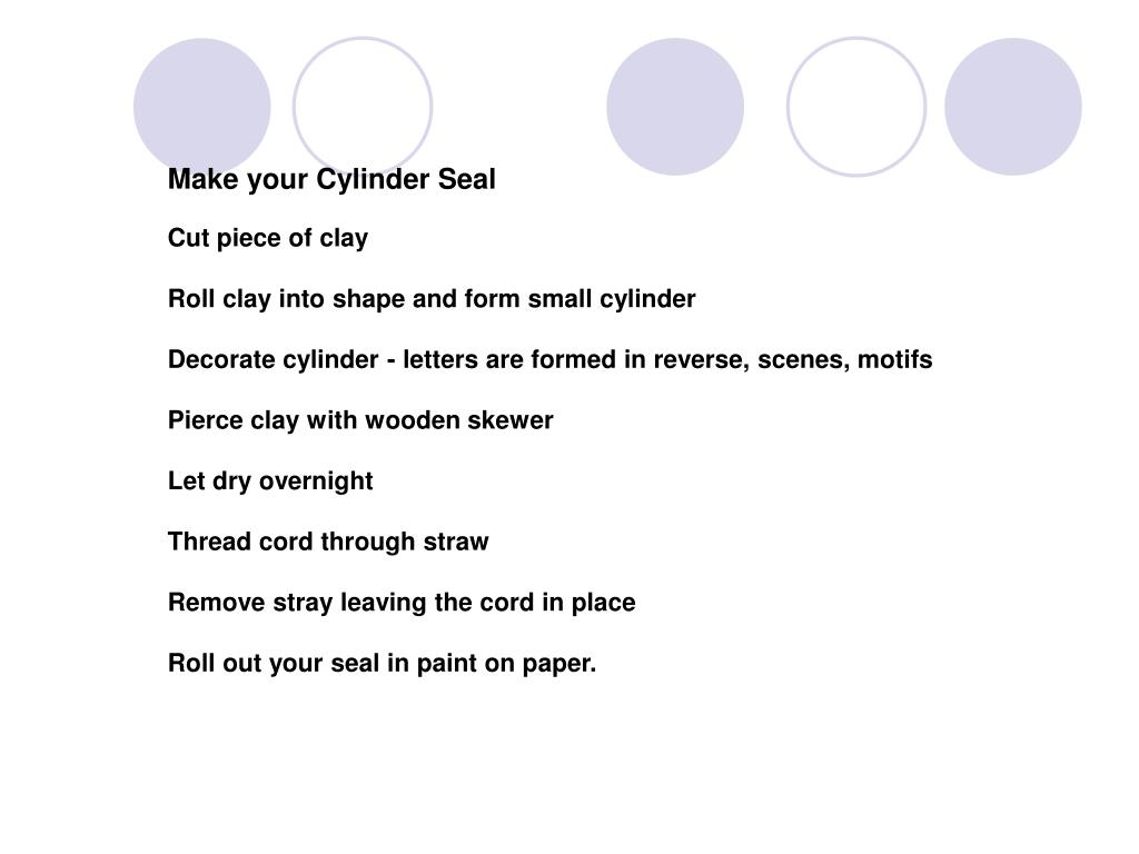 Make your Cylinder Seal