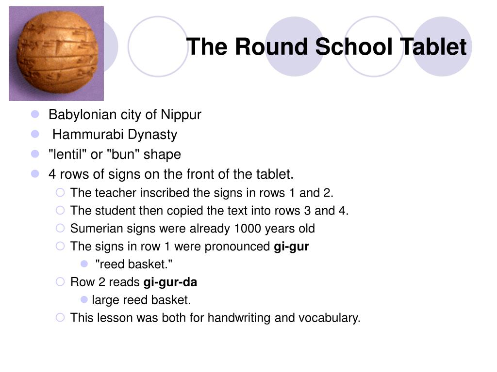 The Round School Tablet