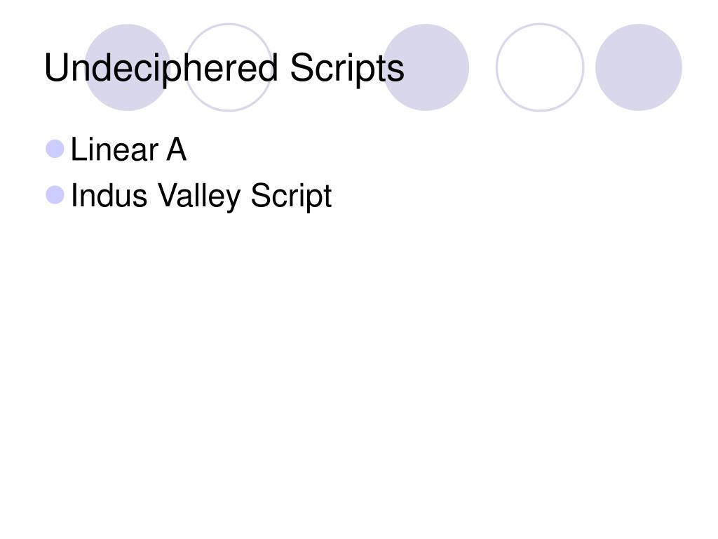 Undeciphered Scripts