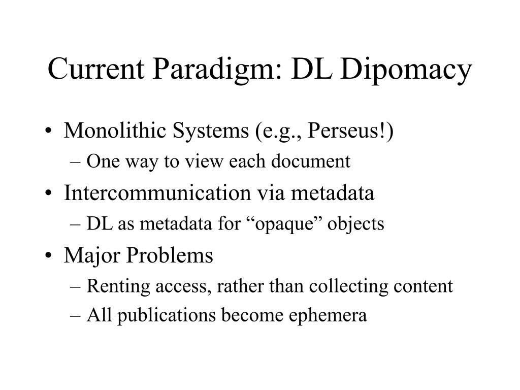Current Paradigm: DL Dipomacy