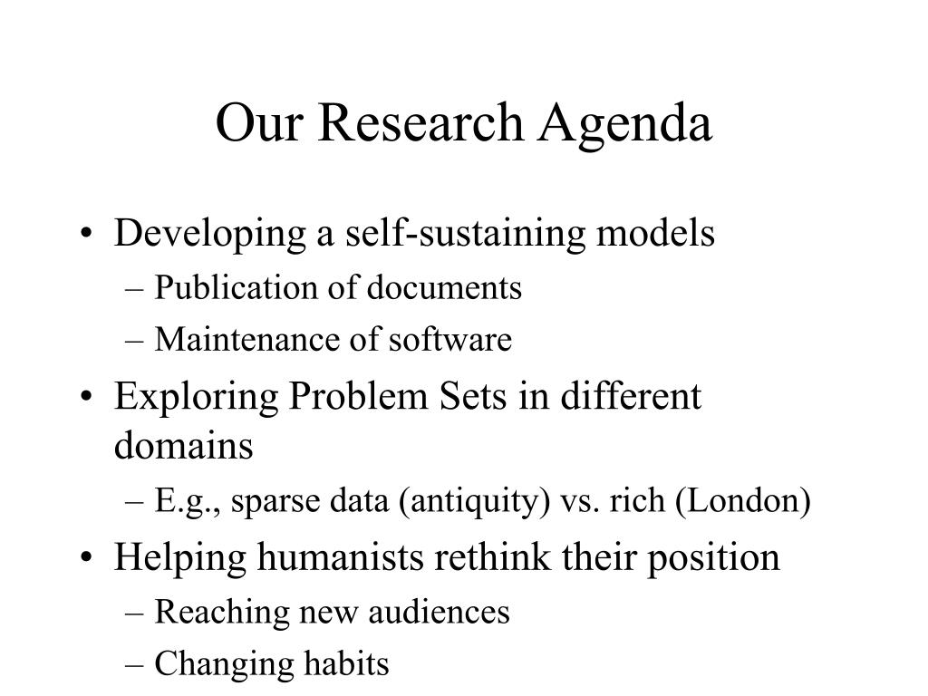 Our Research Agenda