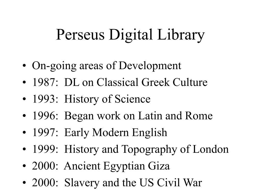 Perseus Digital Library