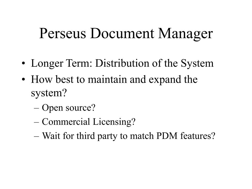 Perseus Document Manager