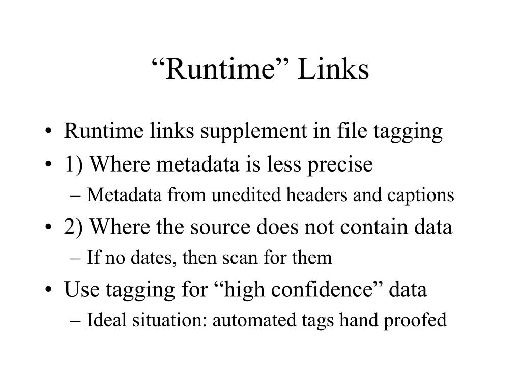 """Runtime"" Links"