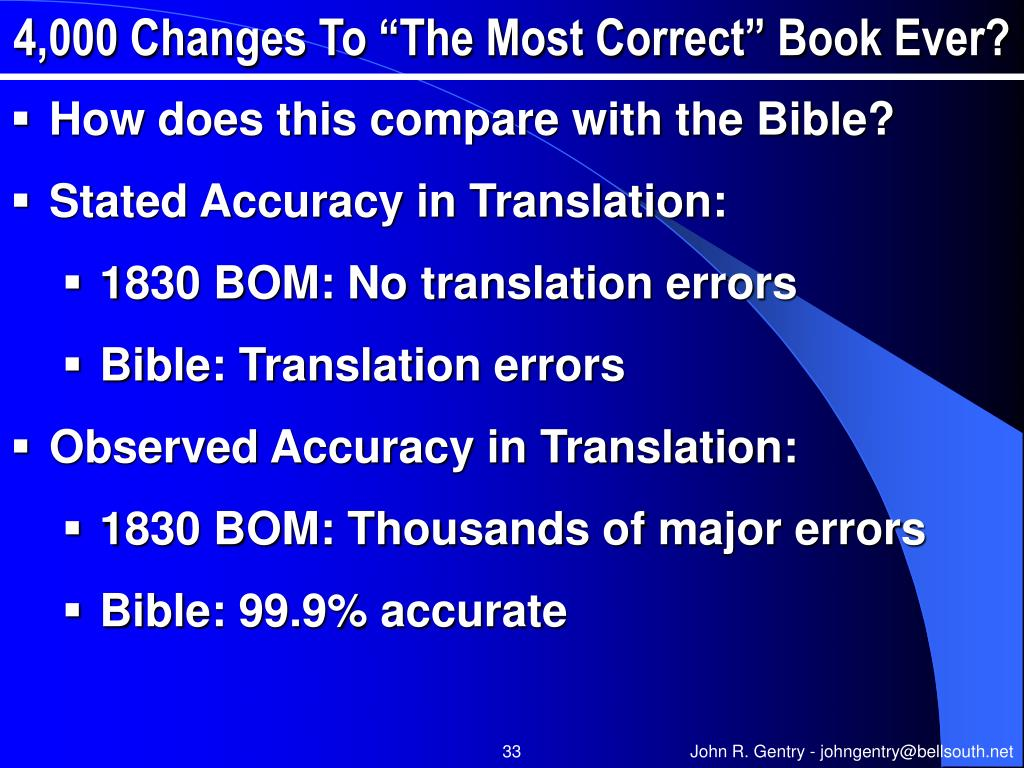 "4,000 Changes To ""The Most Correct"" Book Ever?"