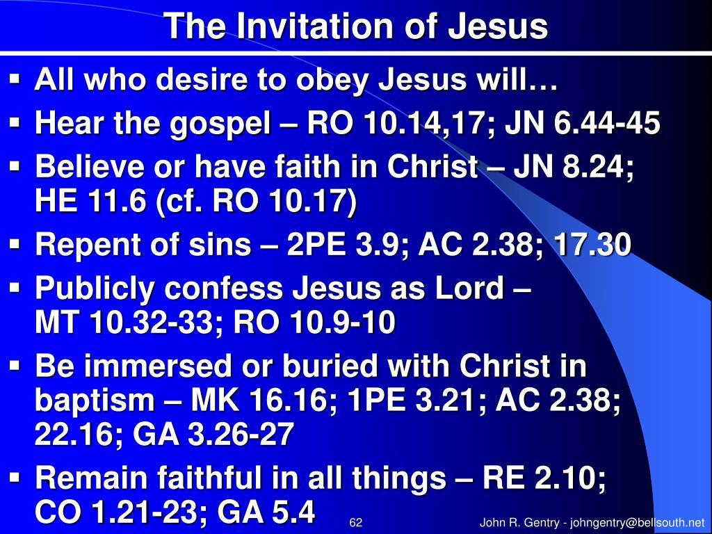 The Invitation of Jesus