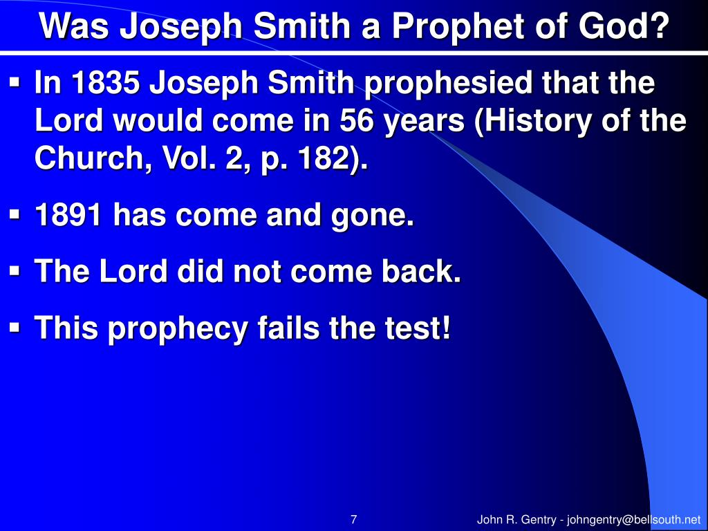 Was Joseph Smith a Prophet of God?
