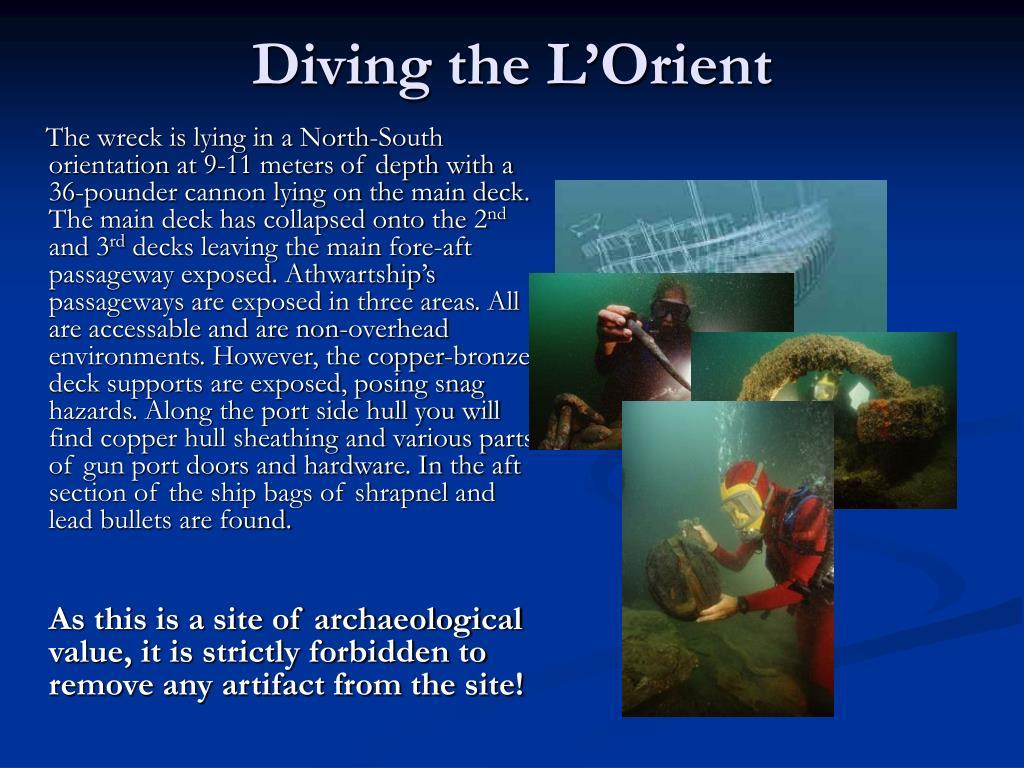Diving the L'Orient