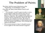the problem of points