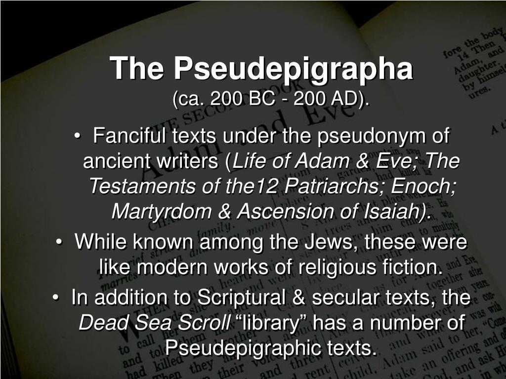 The Pseudepigrapha