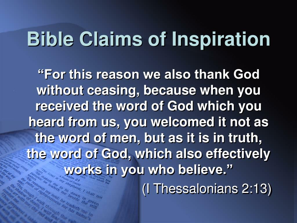 Bible Claims of Inspiration