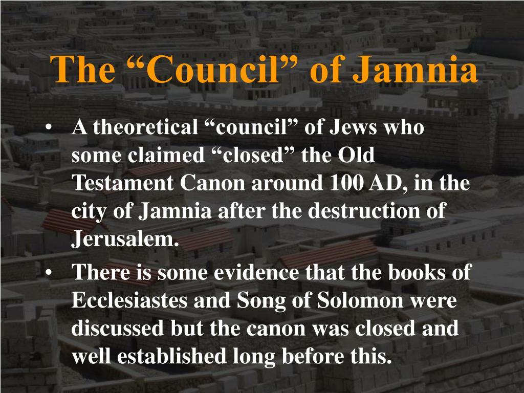 "The ""Council"" of Jamnia"