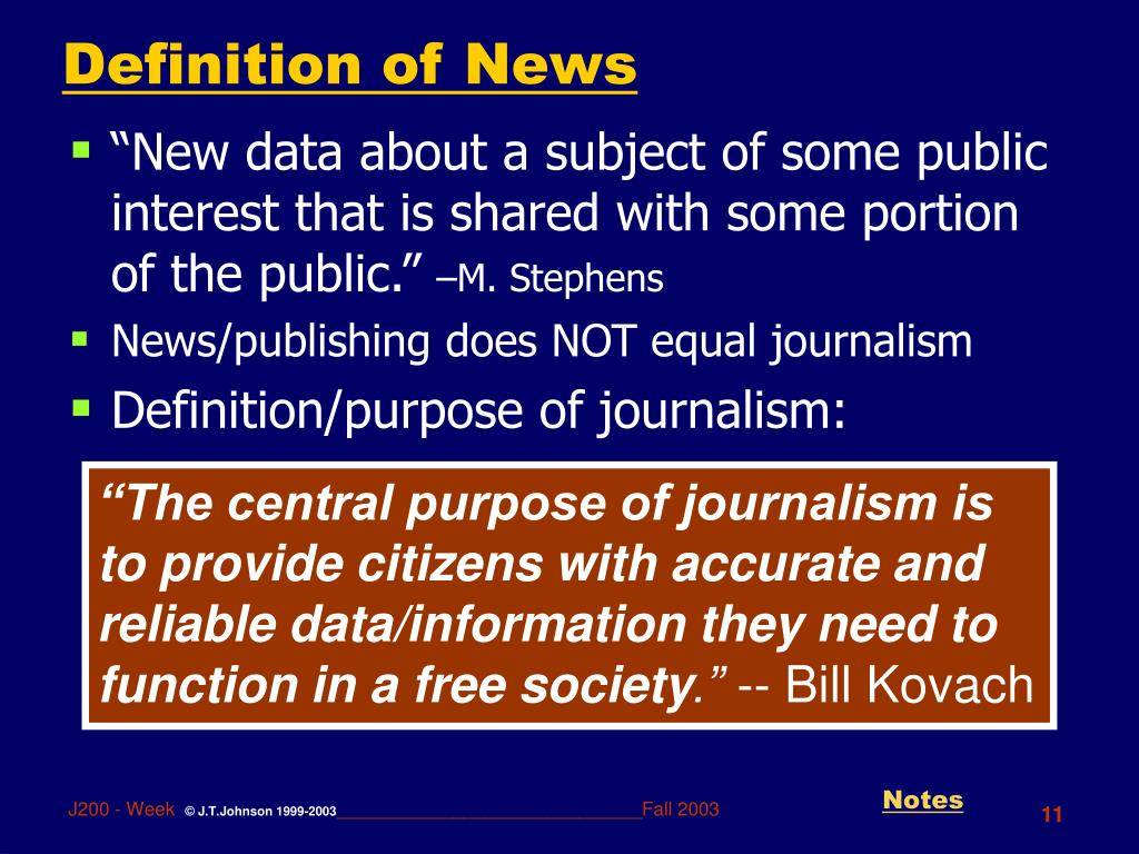 Definition of News
