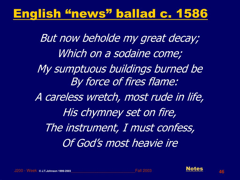 "English ""news"" ballad c. 1586"