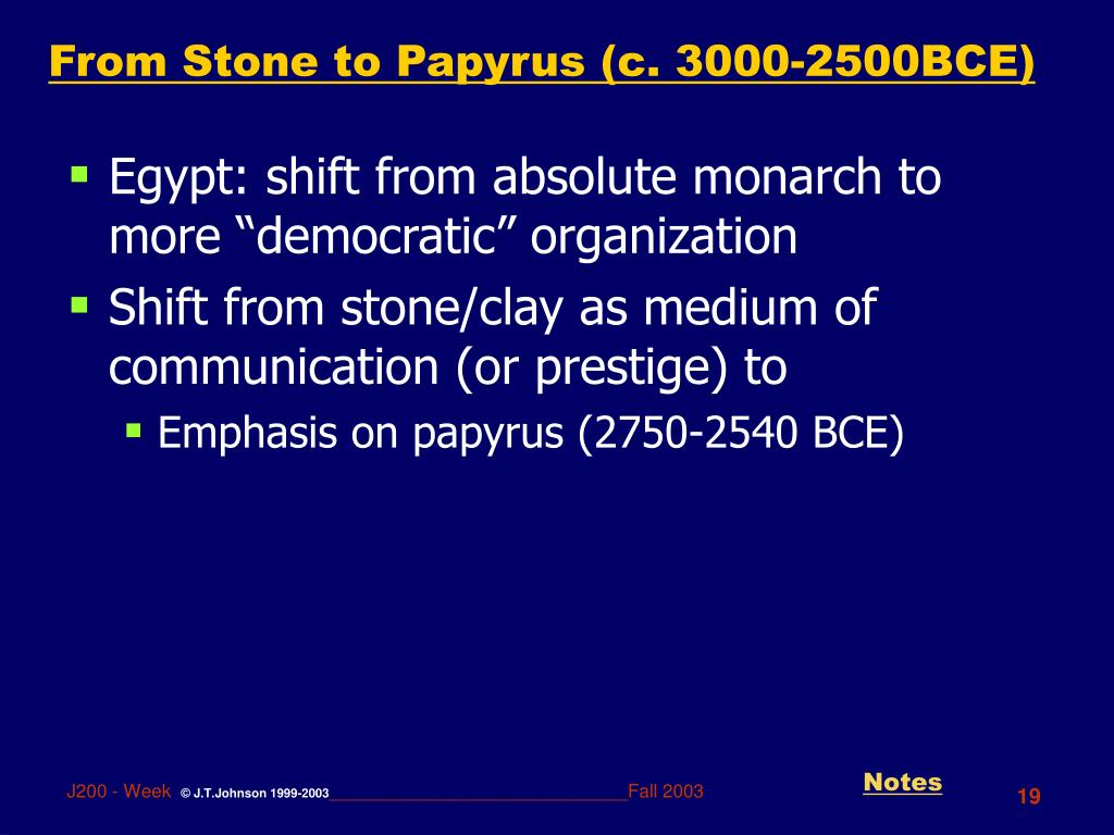 From Stone to Papyrus (c. 3000-2500BCE)