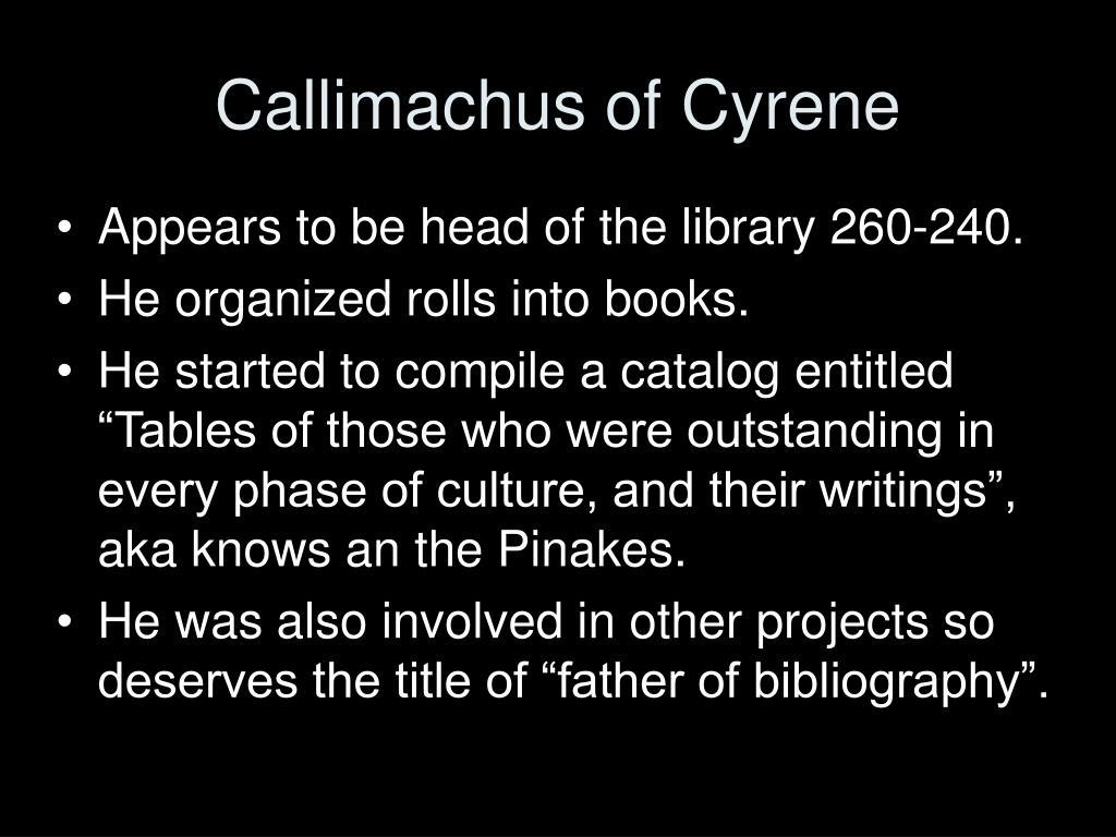 Callimachus of Cyrene