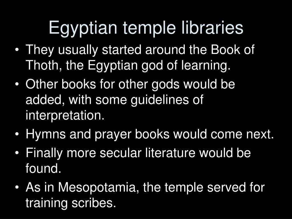 Egyptian temple libraries