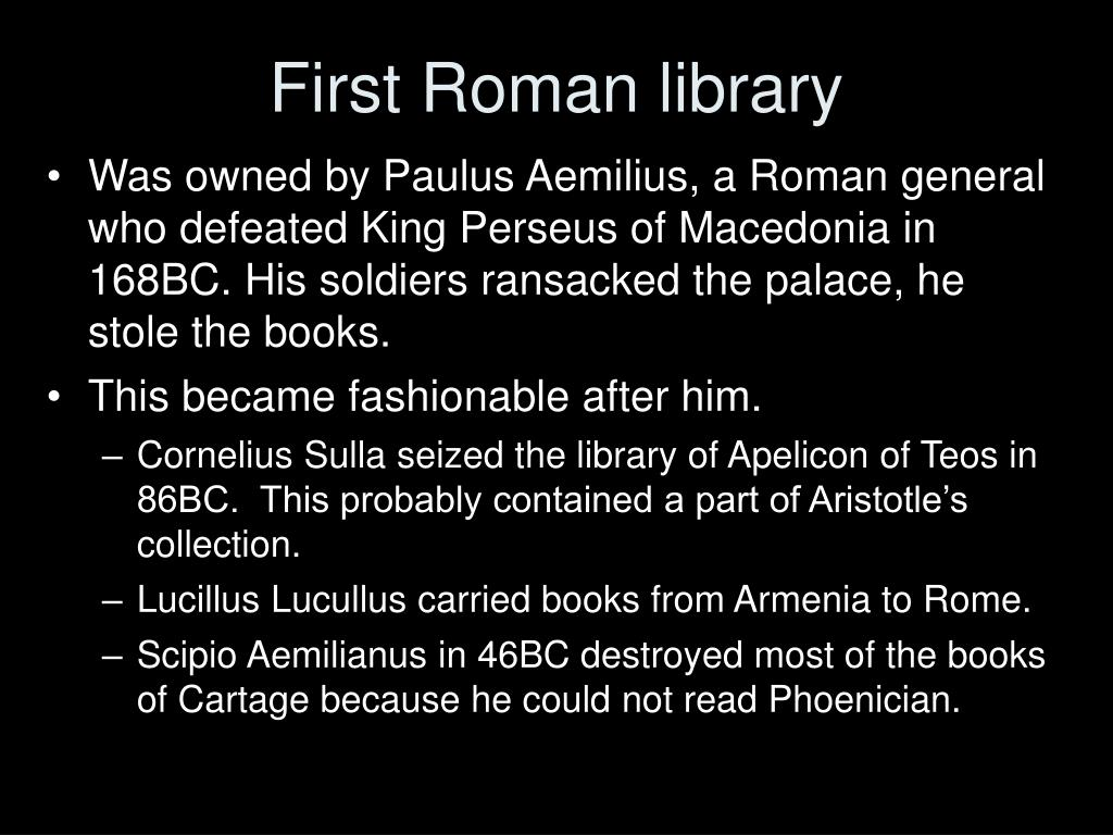 First Roman library