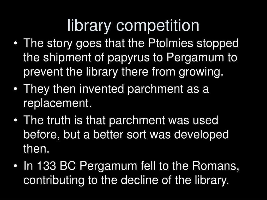 library competition