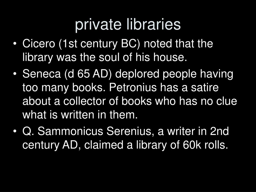 private libraries