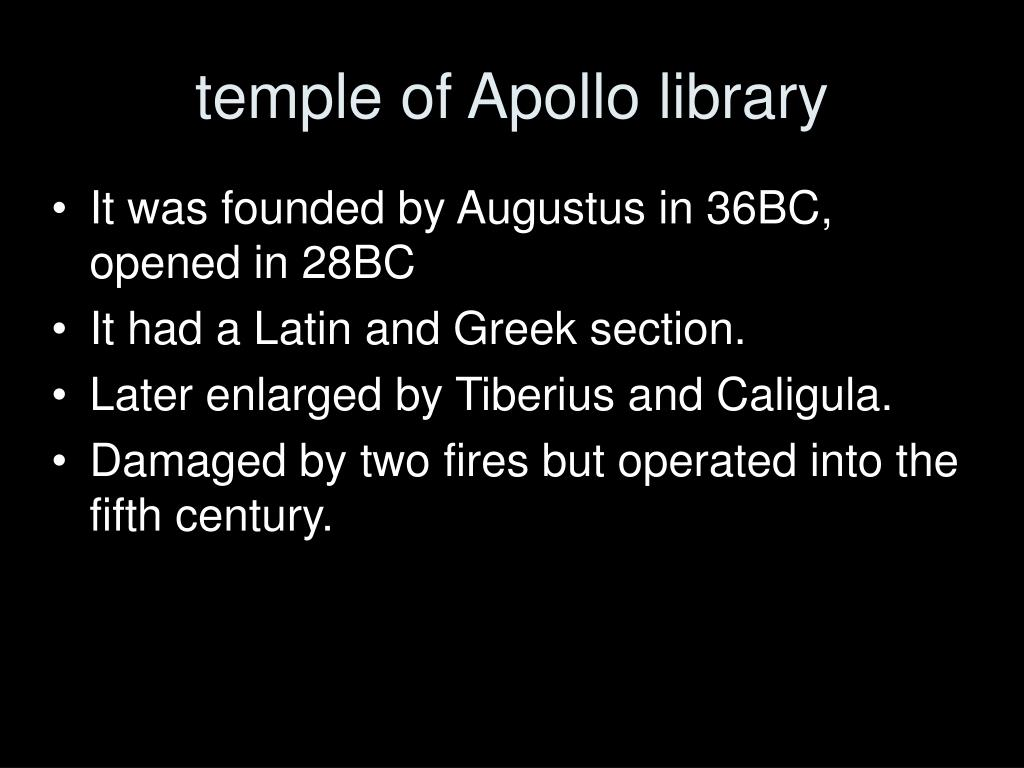 temple of Apollo library