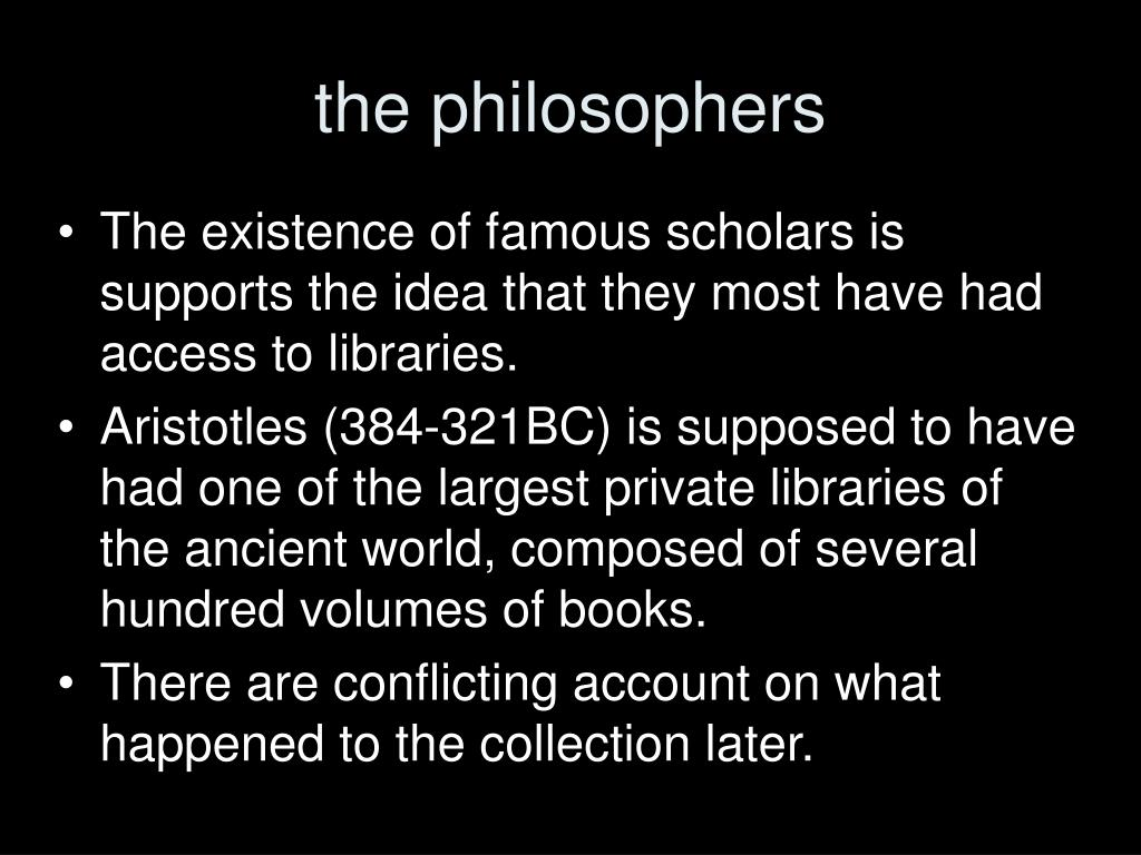 the philosophers