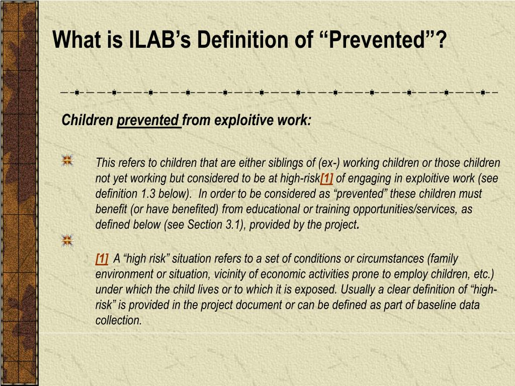 """What is ILAB's Definition of """"Prevented""""?"""